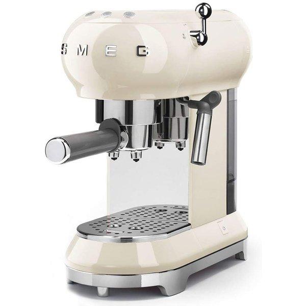スメッグ エスプレッソメーカー SMEG ECF01CRUS コーヒーマシーン レトロ クリーム