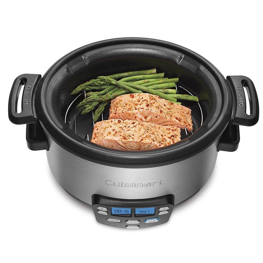 クイジナート Cuisinart MSC-400 1台3役焼く スロークック、蒸す マルチクッカー スロークッカー 低温調理器 3.8L アメリカキッチン家電