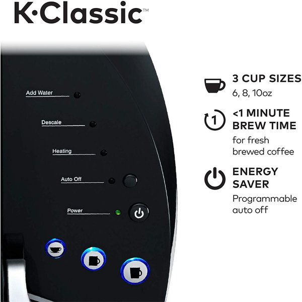 キューリグ コーヒーメーカー Keurig K-クラシック シングルカップ お茶 ブラック