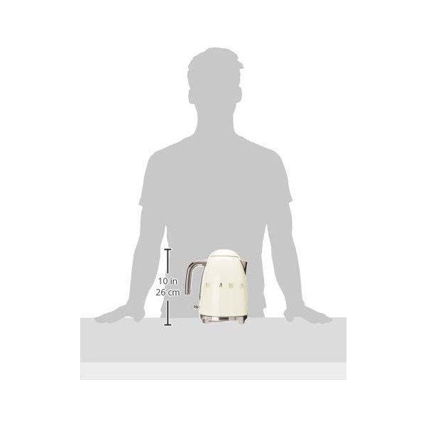 スメッグ 電気ケトル SMEG KLF03CRUS レトロデザイン 湯沸かし器 1.7L クリーム