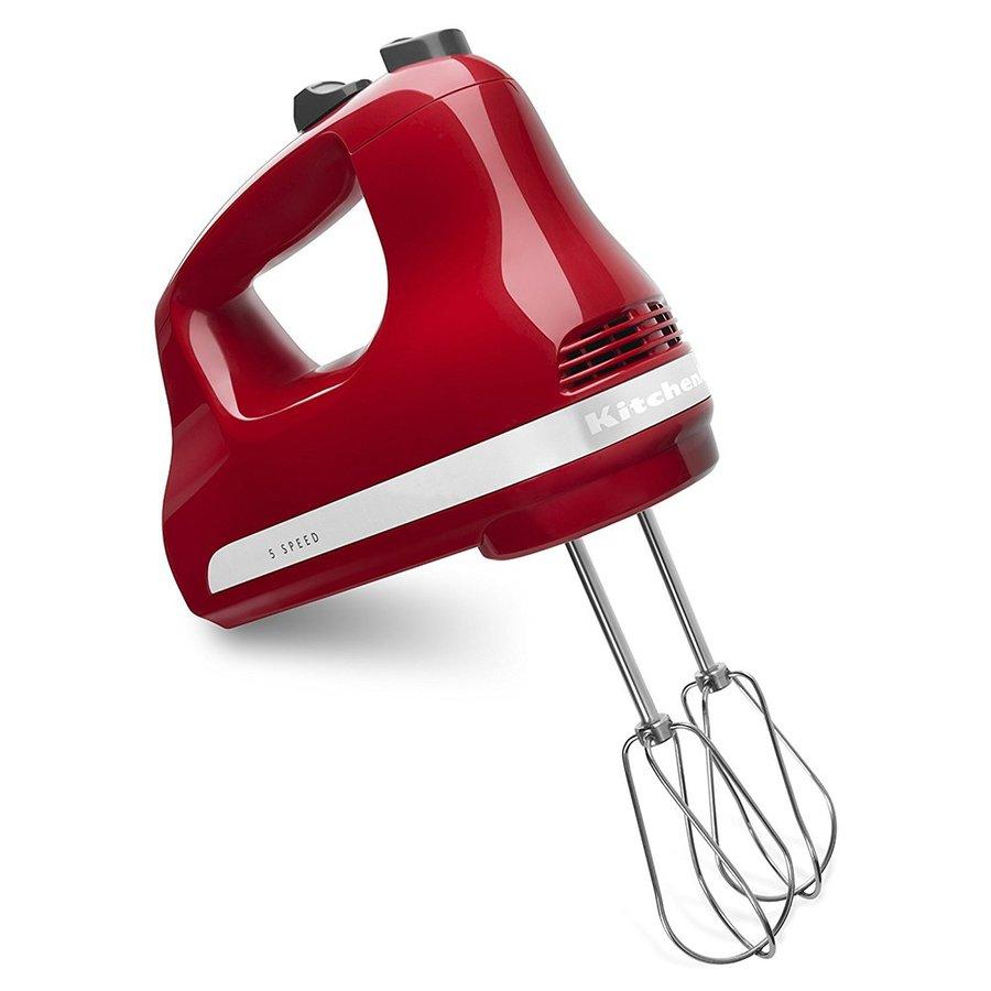 キッチンエイド KitchenAid KHM512ER ハンドミキサー 泡立て器 ホイッパー 5種類のスピード 強力パワー 軽量 エンパイアレッド アメリカキッチン家電