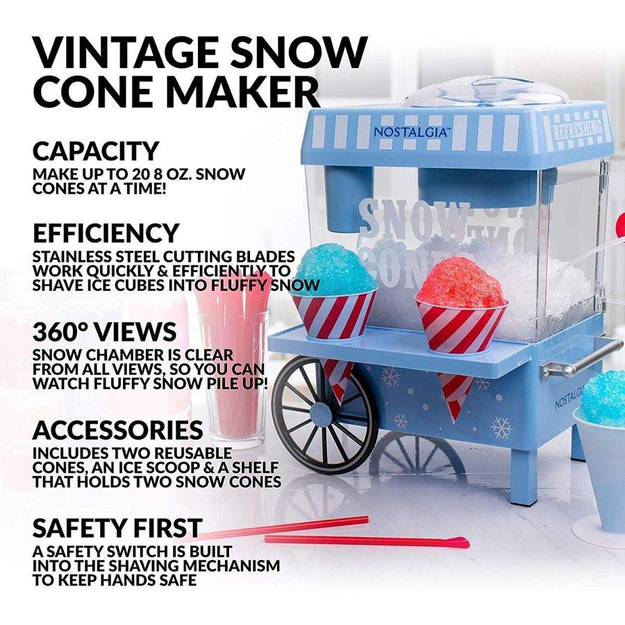 ノスタルジア Nostalgia SCM525BL ヴィンテージカウンターかき氷メーカー ブルー