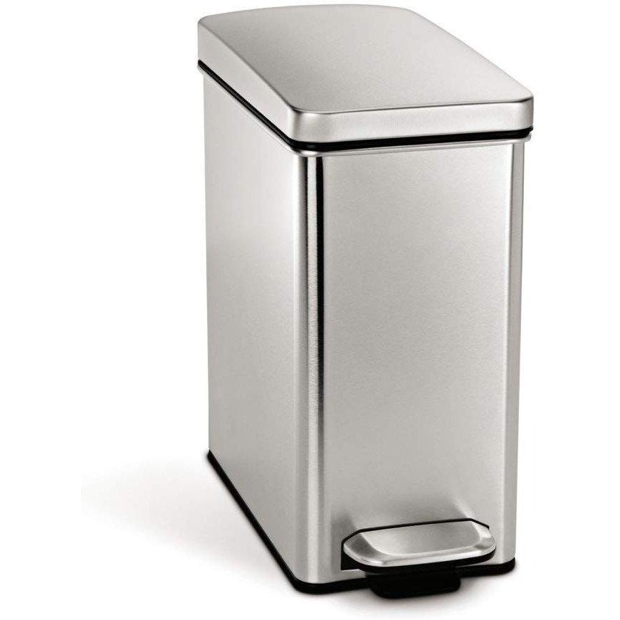 シンプルヒューマン ステンレススチールゴミ箱 simplehuman CW1898 10リットル