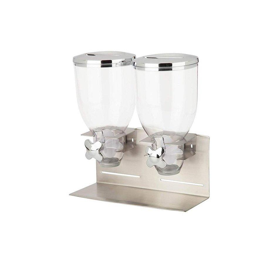 ゼブロ Zevro KCH-06146 Dry Food Dispenser ドライフード ディスペンサー シルバー ストッカー フードシリアルディスペンサー アメリカキッチン雑貨