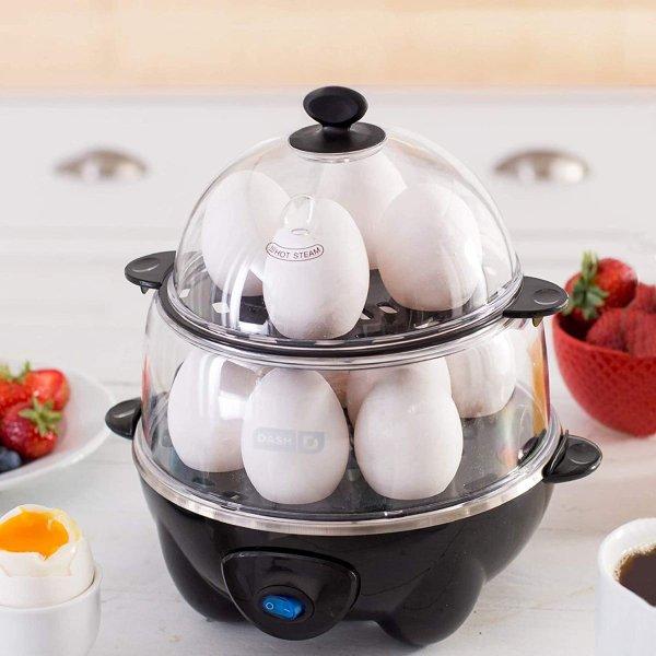 ダッシュ ゆで卵メーカー DASH DEC012BK スチーマー 蒸し料理 卵料理 12個