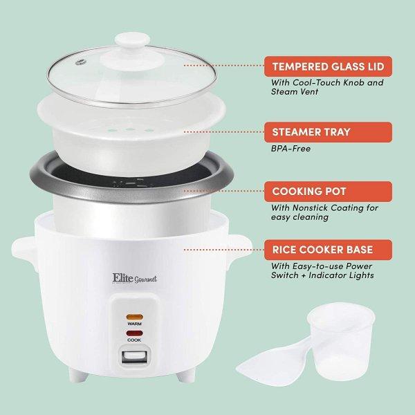 マキシマティック 炊飯器 Maxi-Matic ERC-006NST スチーマー 電動 3カップ