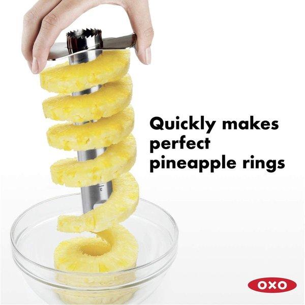 パイナップル 芯抜き OXO オクソー ステンレススチール パイナップルコアラー&スライサー