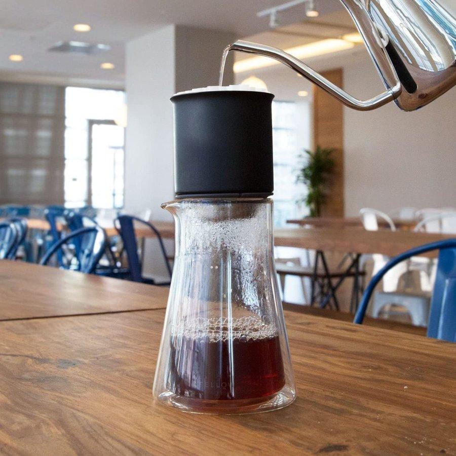 Fellow フェロー スタッグ ダブルウォール ガラスカラフェ 600mL 耐熱ガラスポット Fellow Stagg Double Wall Carafe コーヒーカラフェ