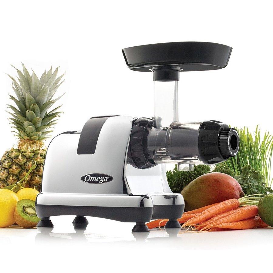 オメガ ジューサー抽出と栄養センター Omega J8008C 200ワット メタリック 野菜 フルーツジュース