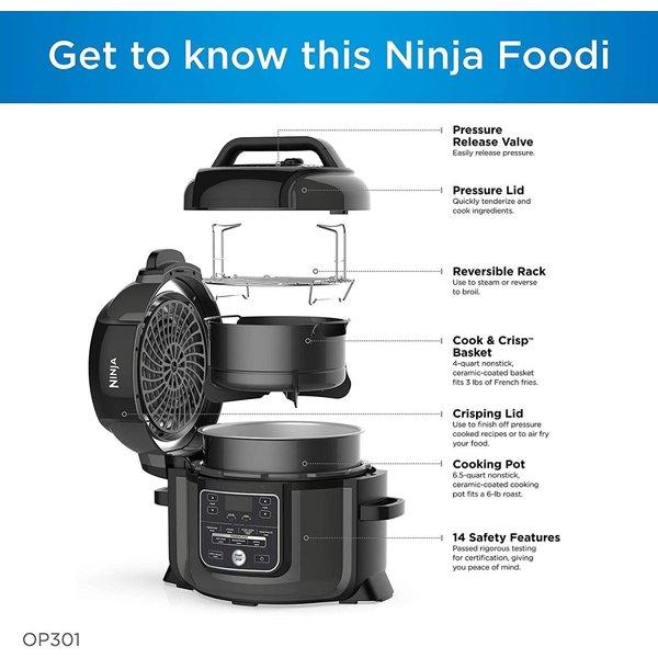 ニンジャ 電気圧力鍋 Ninja OP301 スチーマー&エアフライヤー