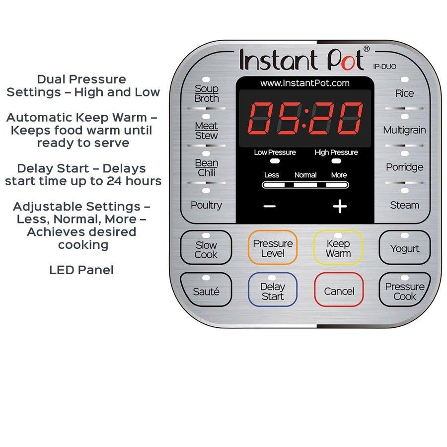インスタントポット 全自動圧力調理器 6リットル Instant Pot IP-DUO60 7-in-1プログラムモード搭載 多機能調理器 米国製品 アメリカキッチン家電