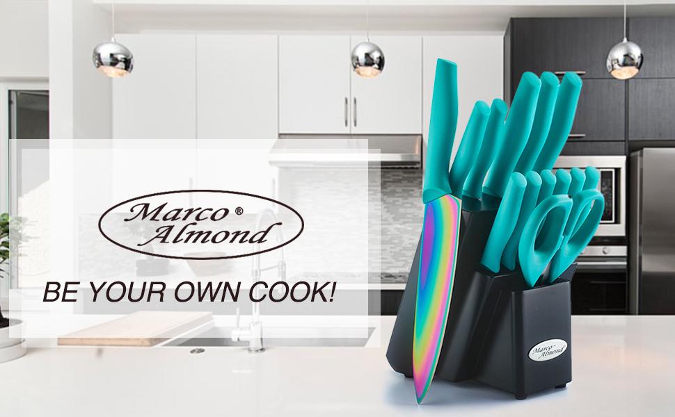 Marco Almond レインボーナイフセット 包丁セット Rainbow Titanium Knife Set マルコ アーモンド