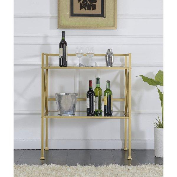 お洒落なバーテーブル ワイン棚 バーカウンター 食器棚  リビング ダイニング ミラー Gold 海外家具