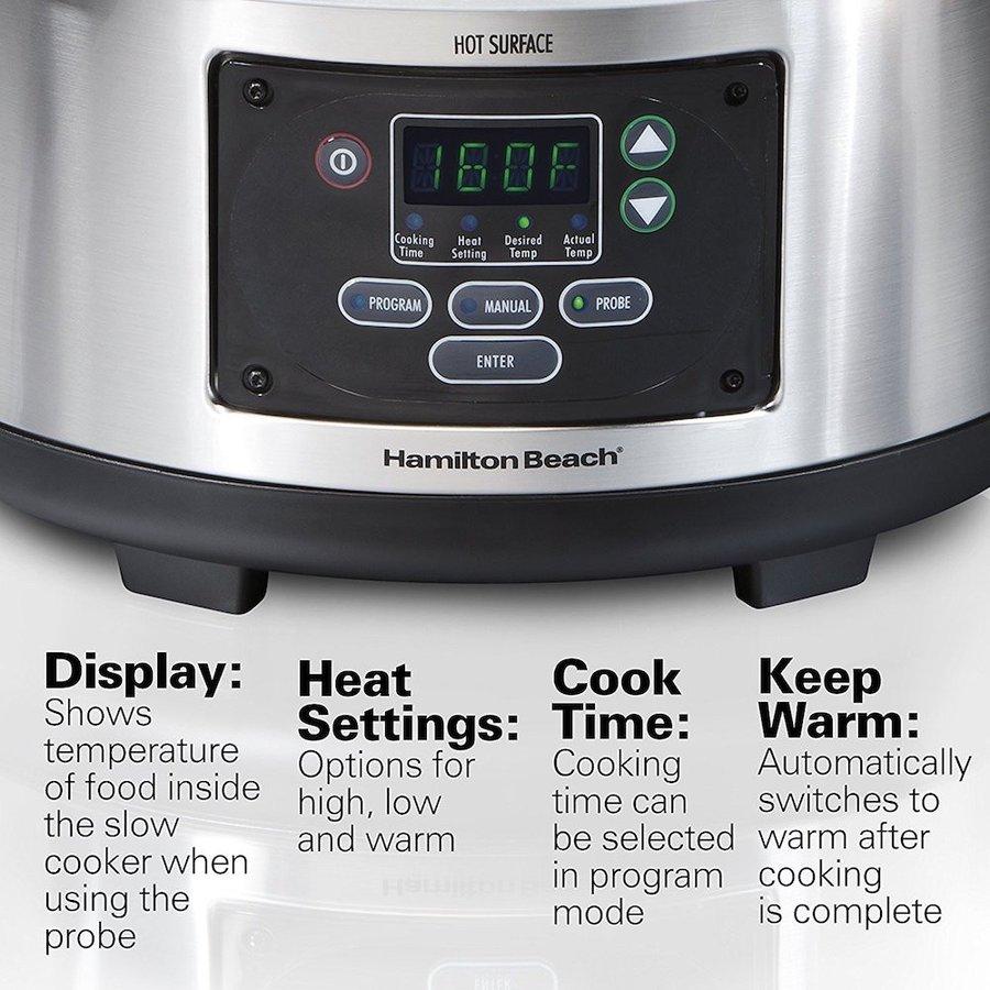 ハミルトンビーチ Hamilton Beach33969 電気圧力鍋 クロックポット 低温調理器 コトコト煮込む スロークッカー アメリカキッチン家電