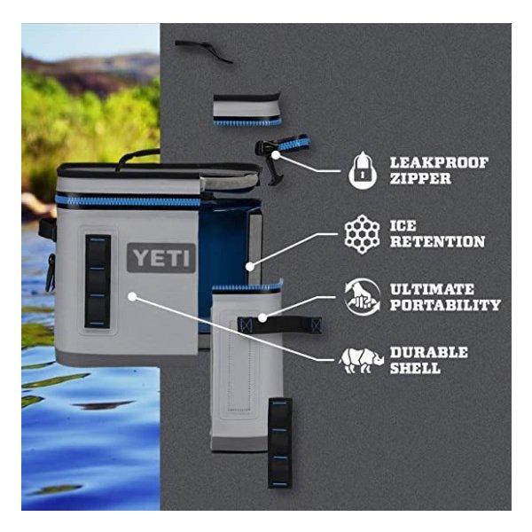 【YETI】Hopper Flip 12 クーラーボックス Fog Gray/Tahoe Blue
