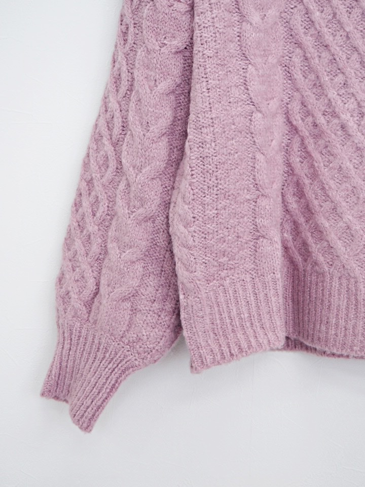chamy knit darkpink