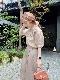 【SALE】チョア刺繍ブラウス ピンクベージュ