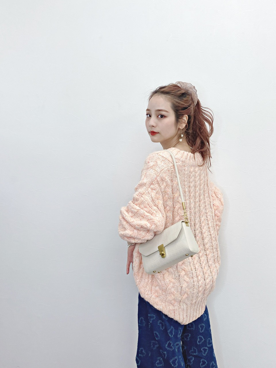 marshmallow knit orange