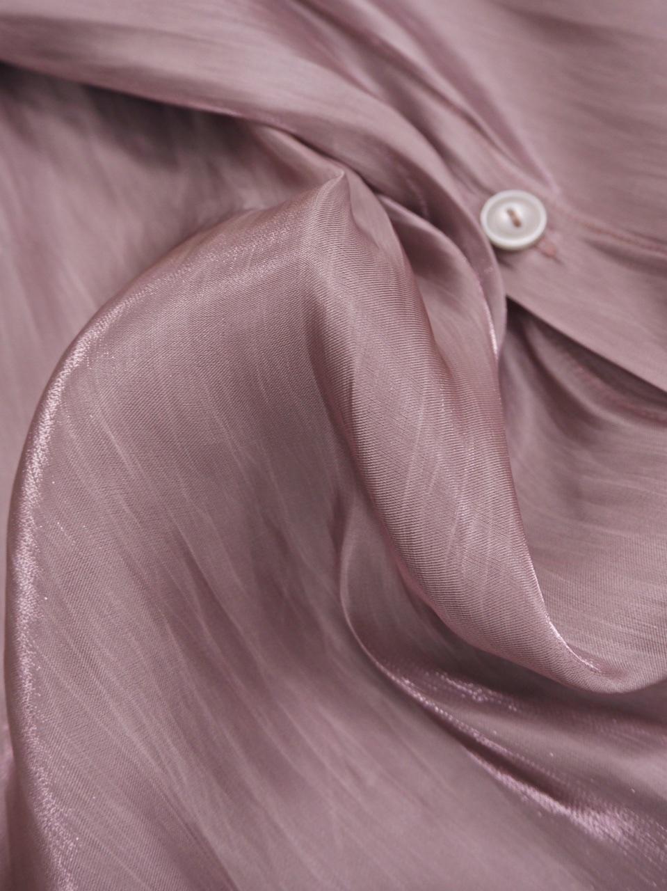 【SALE】グロスカラーブラウス ピンク