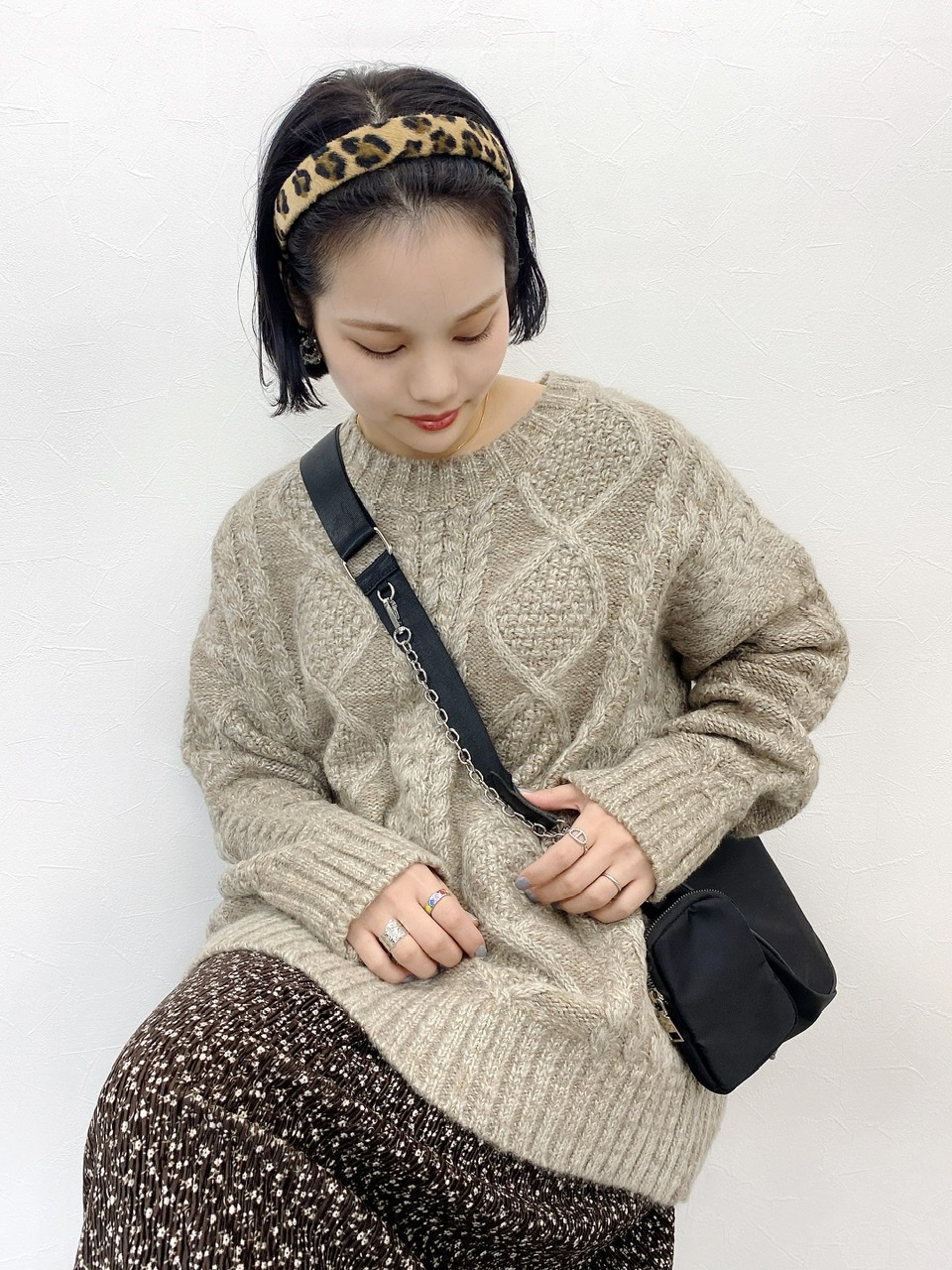 rism knit brown