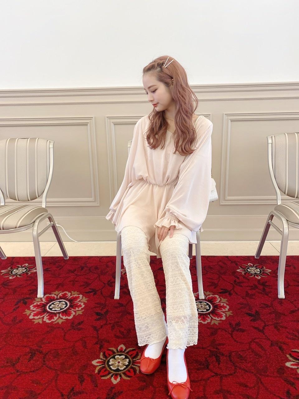 lace pants beige