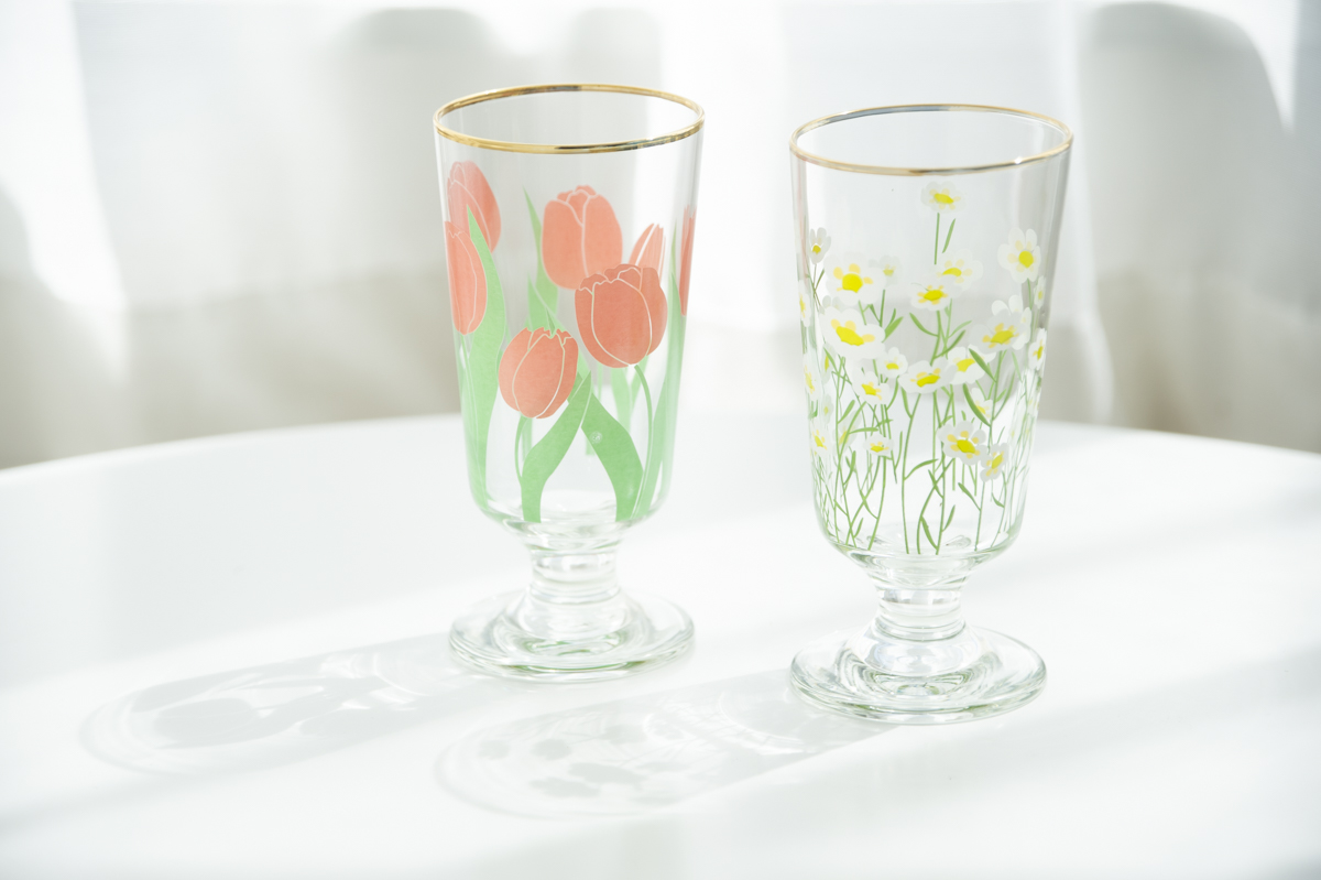 【JH】 golden rim glass