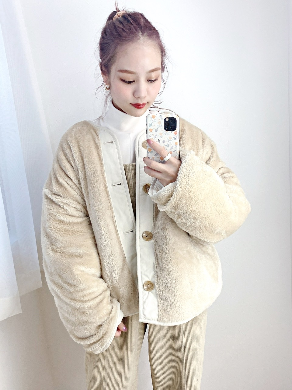 quilting 2way jacket ivory