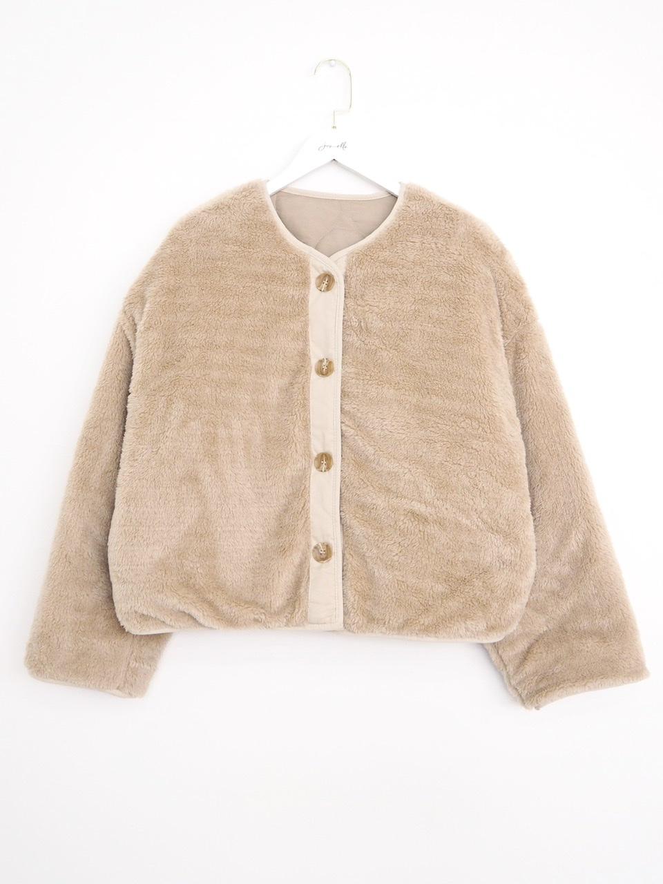 quilting 2way jacket beige