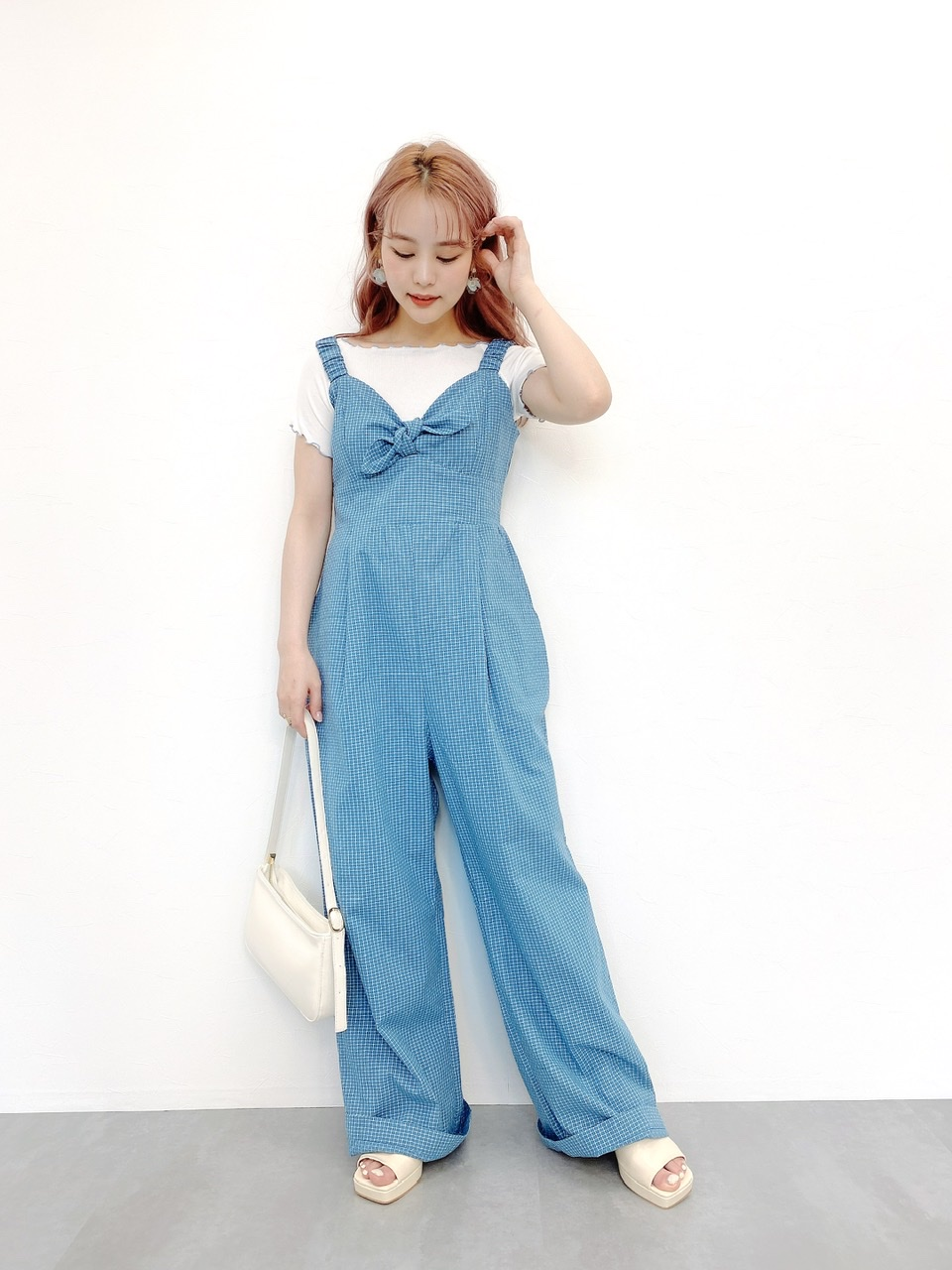 wide jumpsuit blue #
