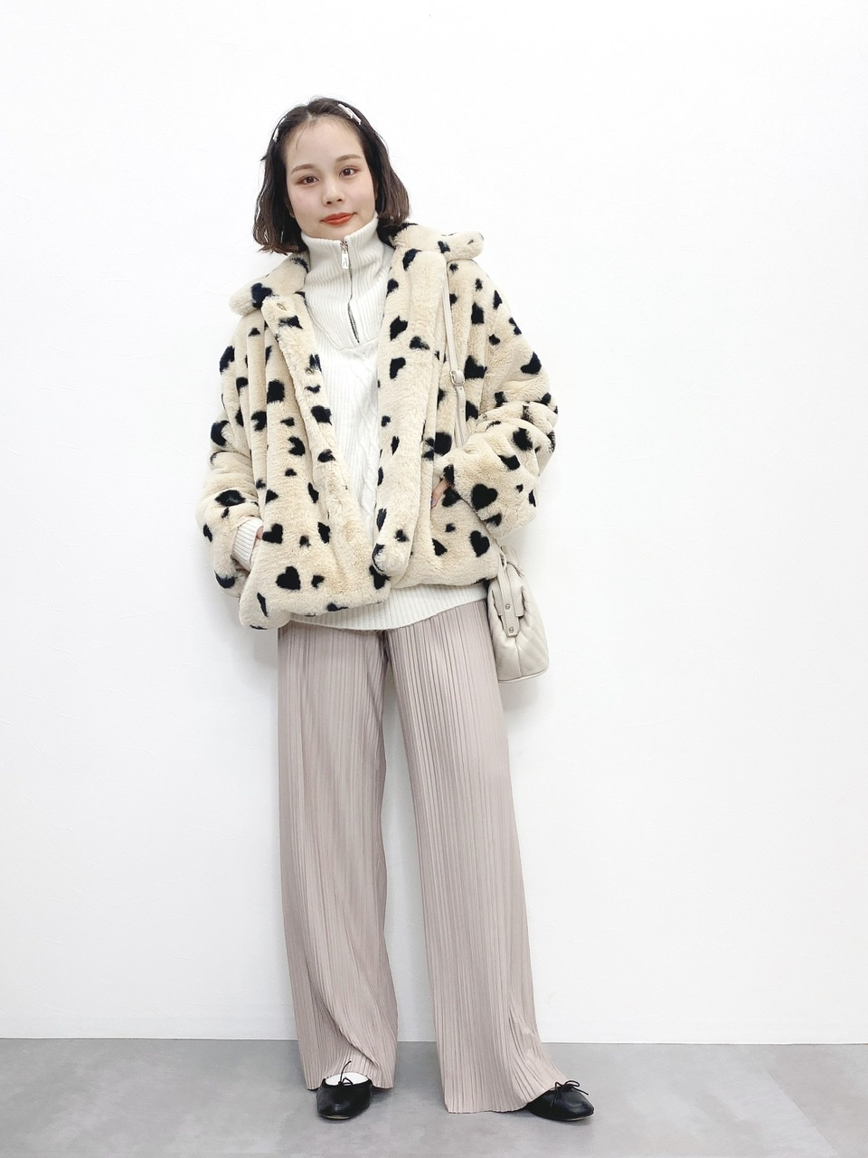 Heart fur coat