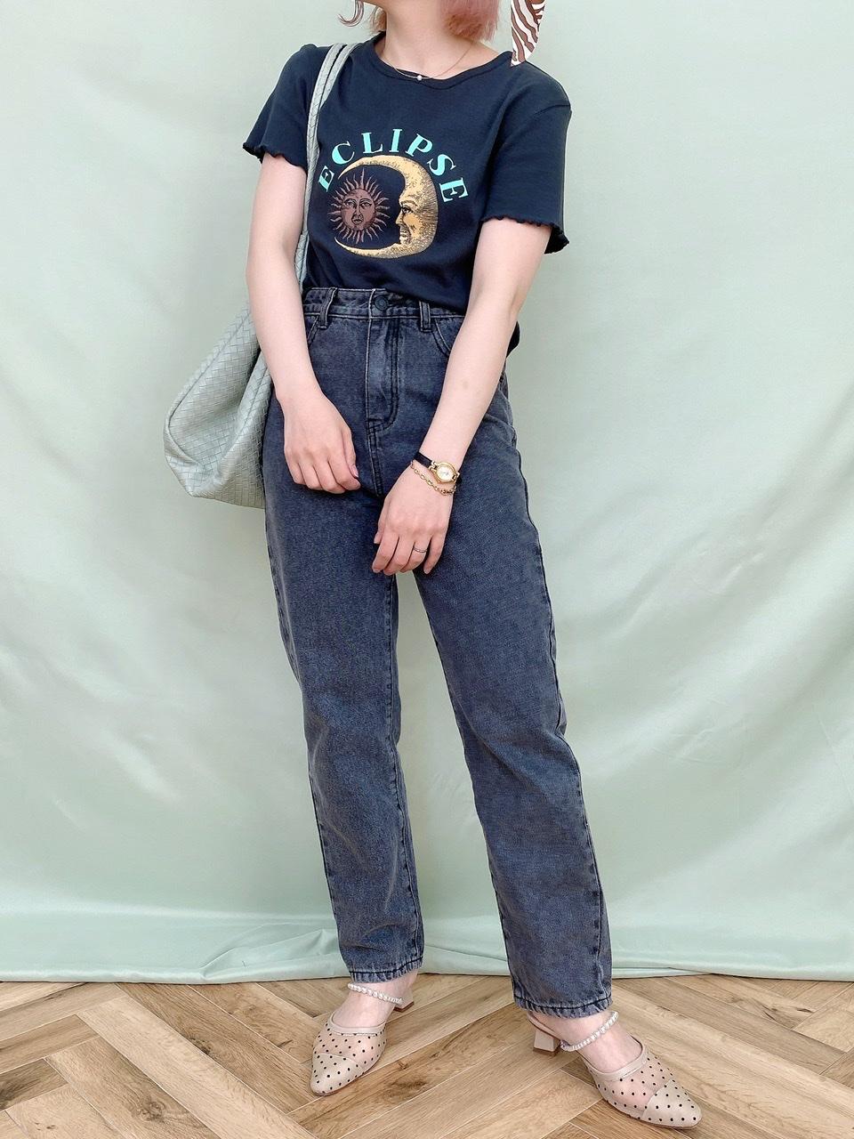 tapered denim pants black