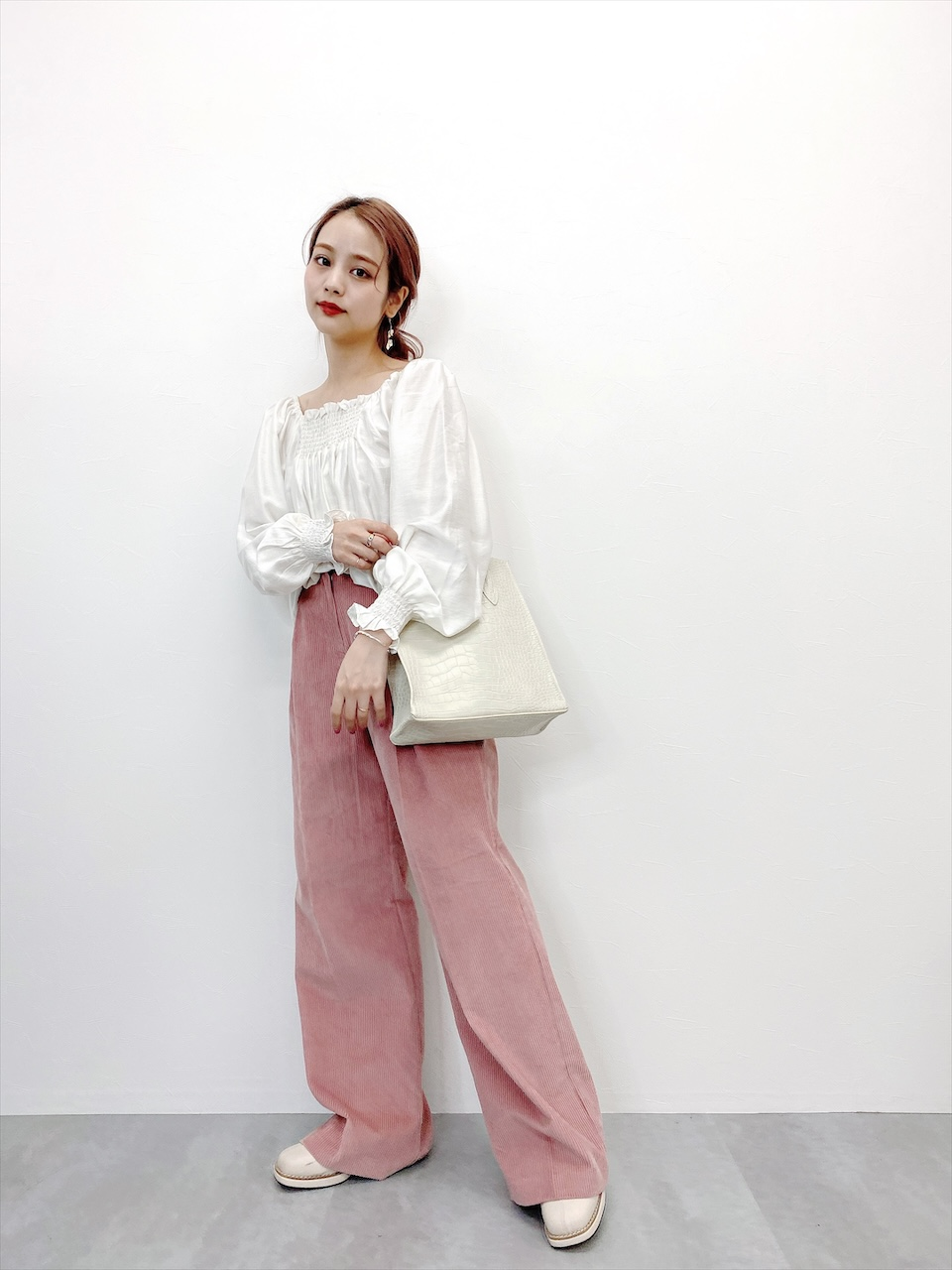 corduroy pants pink
