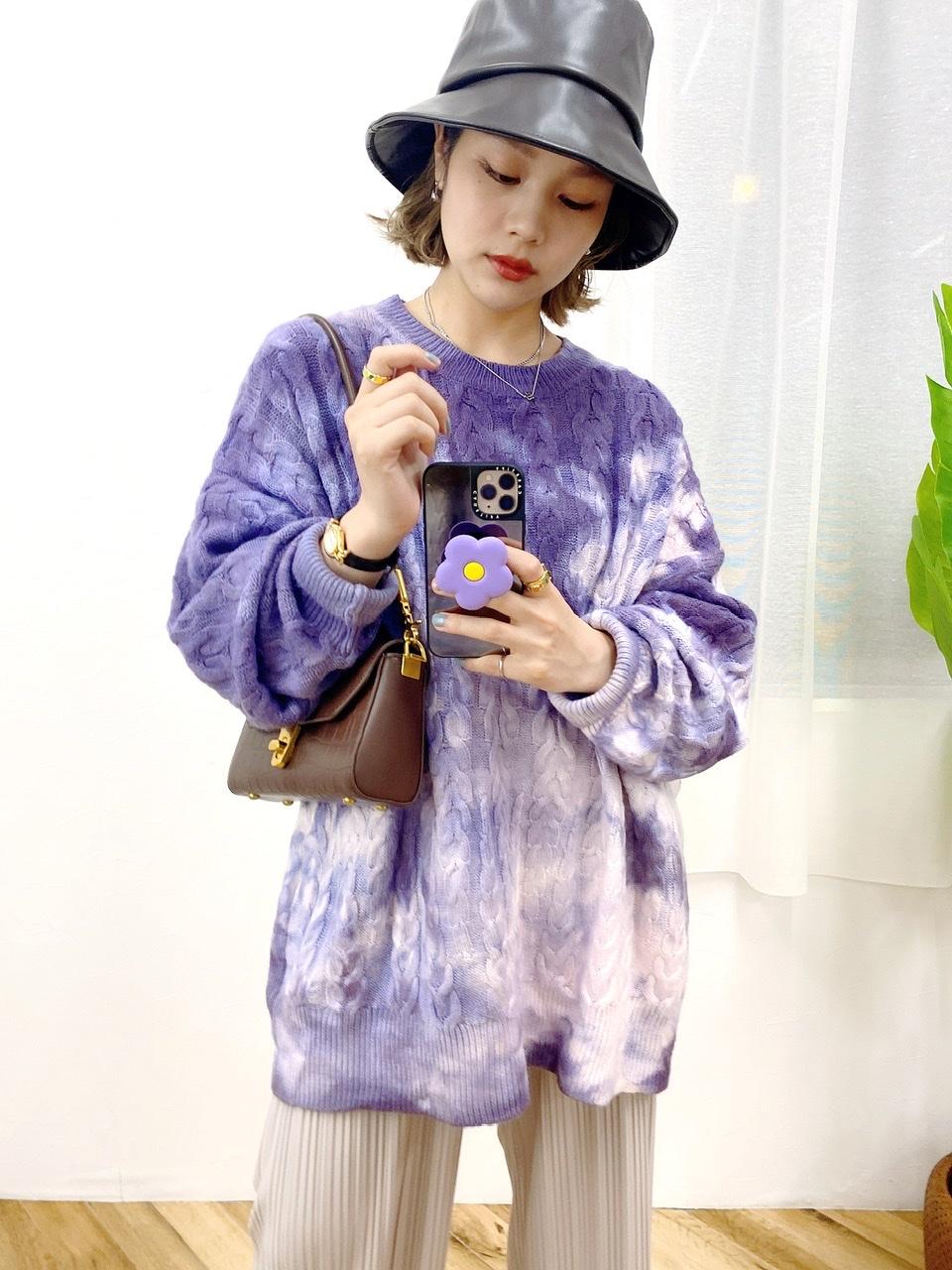 dyed pattern knit