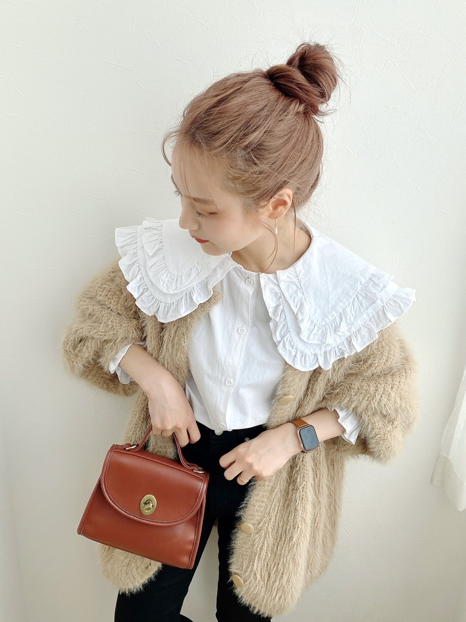 【OR】 double frill blouse