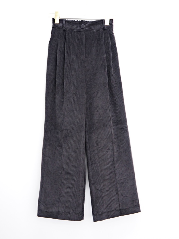 corduroy pants black