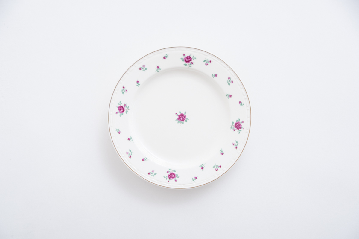 【JH】 rose french plate