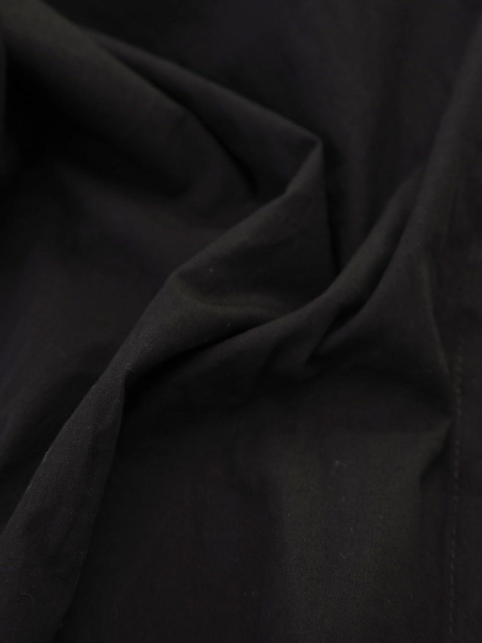 【SALE】ダブルフリルブラウス ブラック
