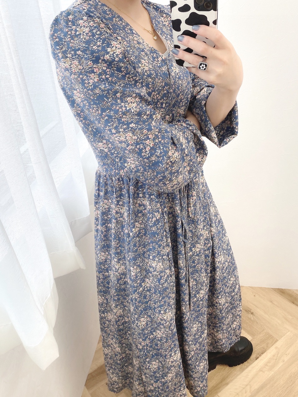 flower long OP blue
