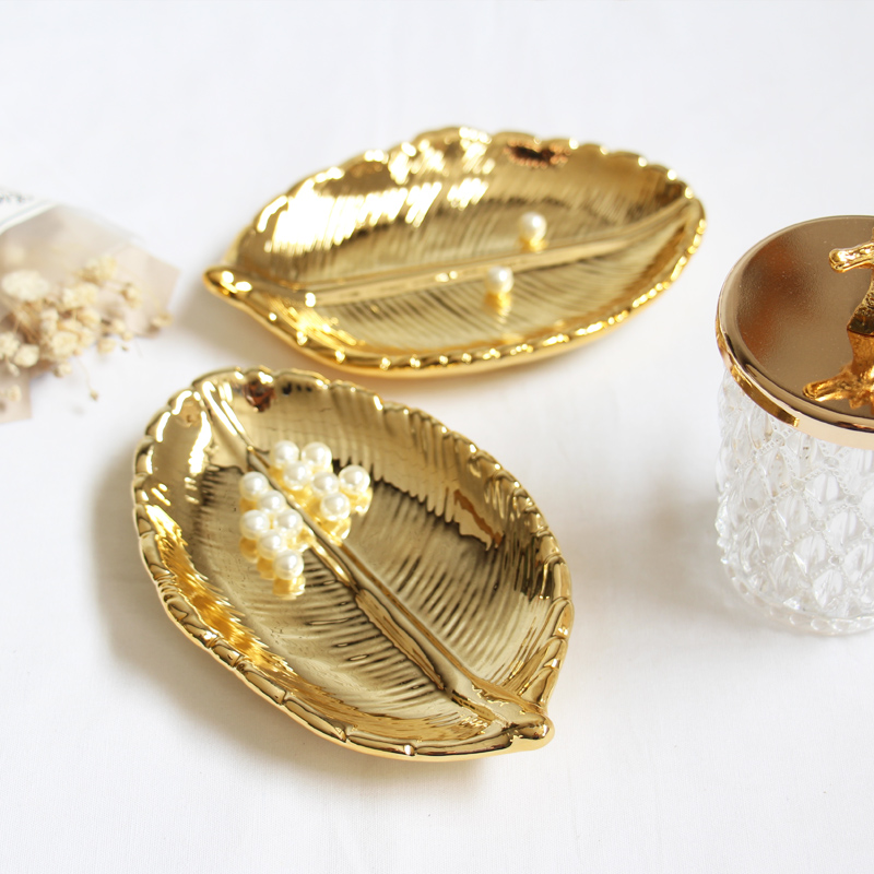 【JH】 gold leaf tray