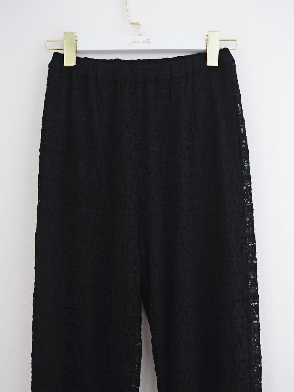 lace pants black