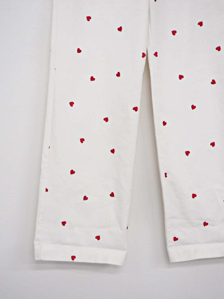 sishu heart denim white