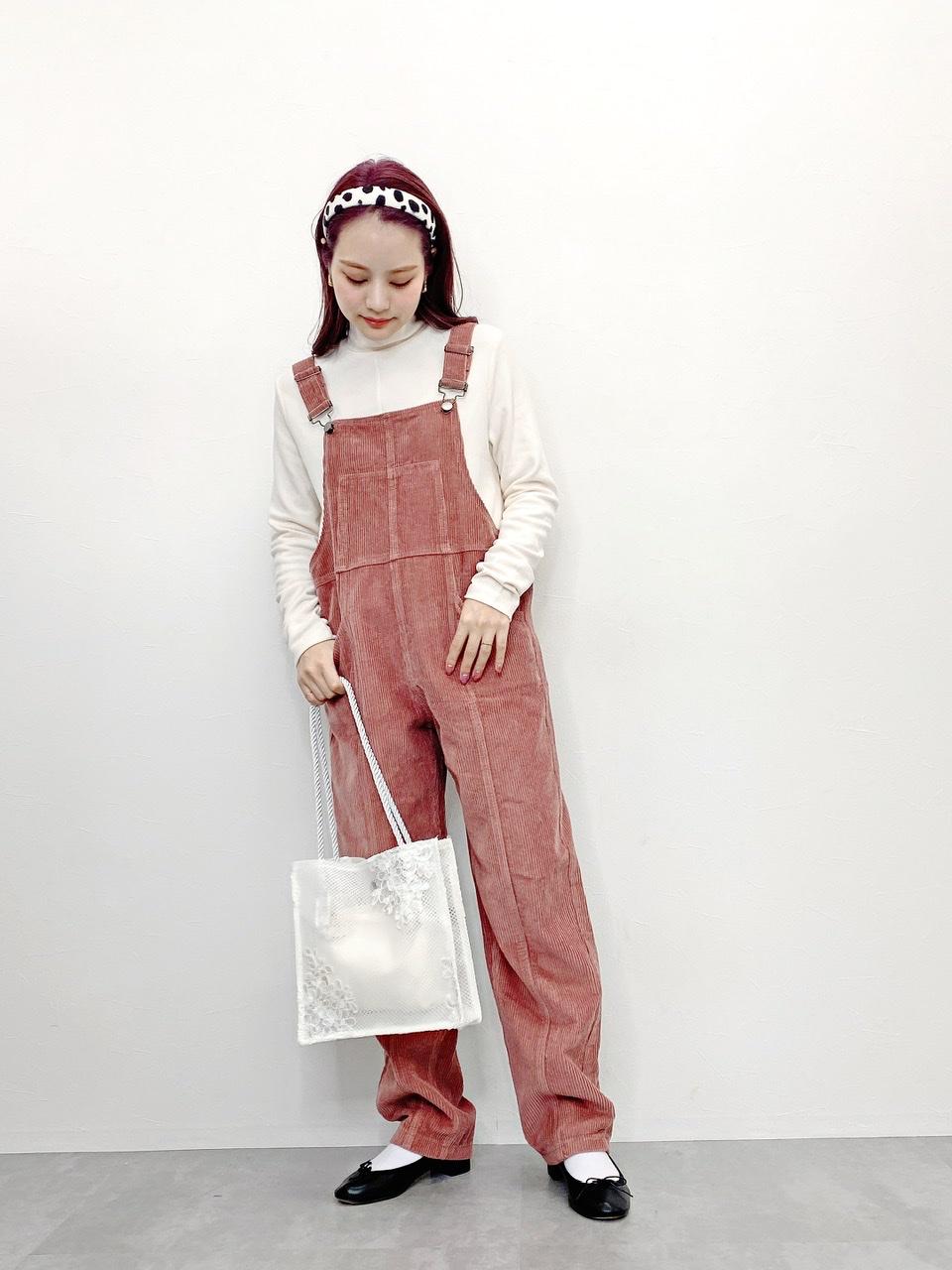 corduroy overalls pink