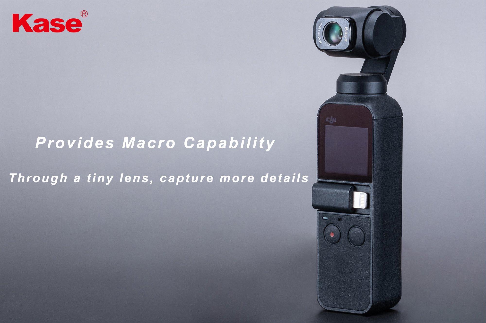 KASE Macro lens + wide angle lens + ND32 +ND64セット(OSMOPocket用)