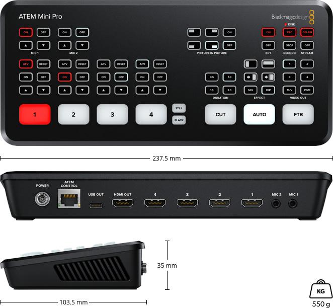 ATEM Mini Pro  ライブプロダクションスイッチャー