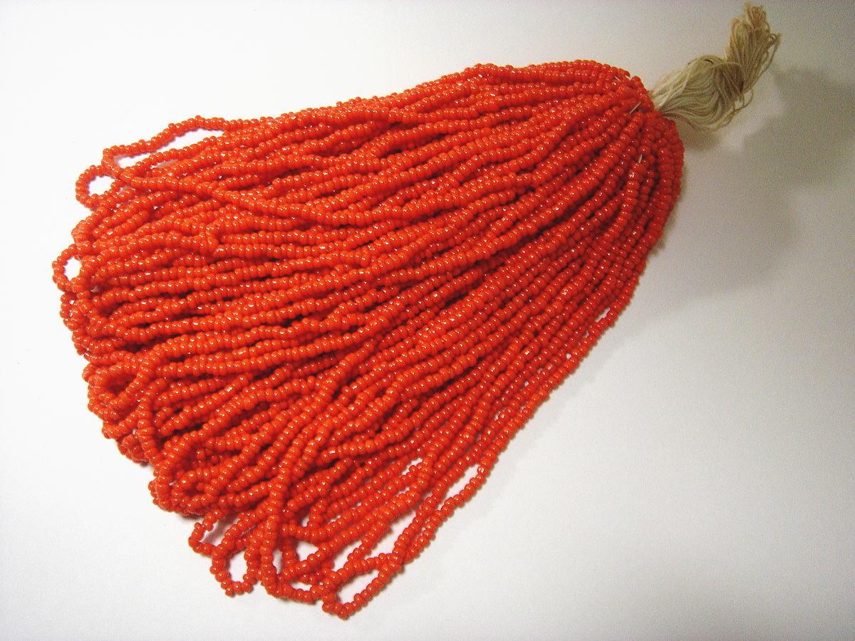 ビーズパーツ ヴィンテージシードビーズ*広島ビーズ オレンジギョク フリンジやビーズ刺繍にも seed-4