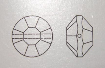 ヴィンテージスワロフスキー廃盤品 #5100 クリスタル AB加工 12mm 10個入り VSX-10-L