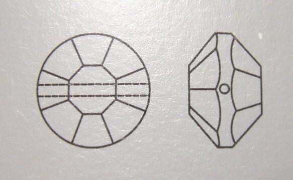 ヴィンテージスワロフスキー廃盤品 #5100 ガーネット AB加工 10mm 10個入り VSX-16-L