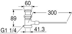 SANEI ポップアップ排水栓上部 【品番:H704-X-32】
