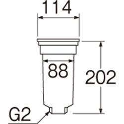 SANEI カゴ付流し排水栓 【品番:H65-50】