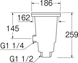 SANEI 流し排水栓 【品番:H6501】